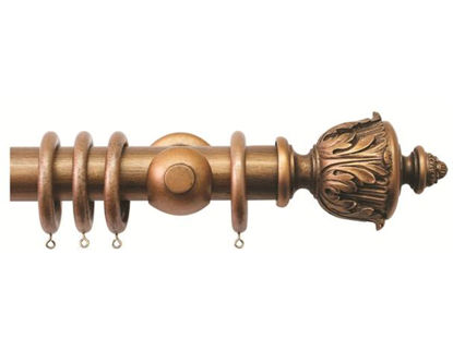 Antique Gold Smooth Pole